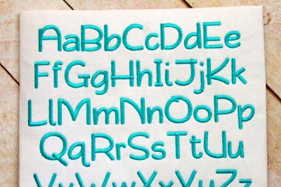 Playground Embroidery Font