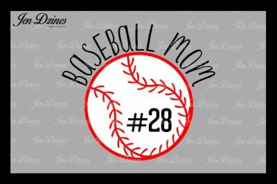 Baseball Mom SVG DXF EPS PNG