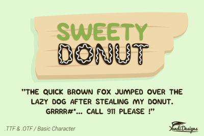 Sweety Donut - Fun Typo