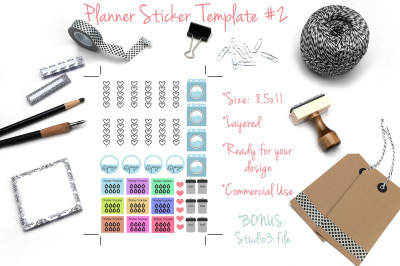 Planner Sticker Templates #2