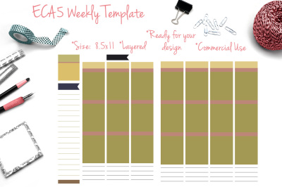 EC A5 Weekly Template