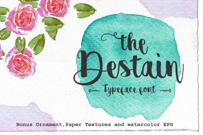 Destain Typeface