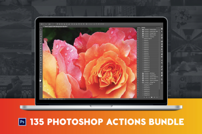 150+ Pro Photoshop Actions Bundle