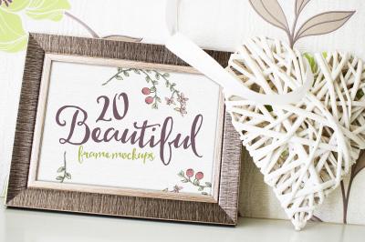 20 Beautiful Frame Mockups