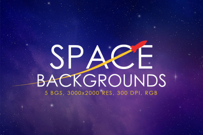 5 Space Backgrounds