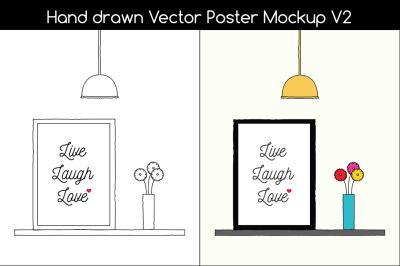 Hand Drawn Poster Mockup v2