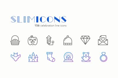Celebration Line Icons