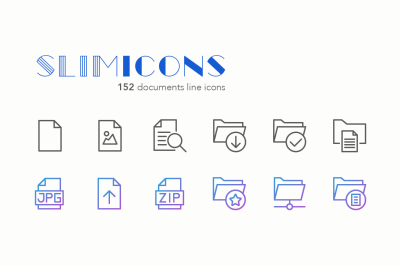 Documents Line Icons