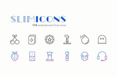 Entertaiment Line Icons