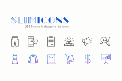 Finance & Shopping Icons