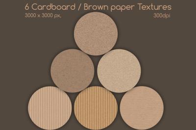 Cardboard / brown paper textures