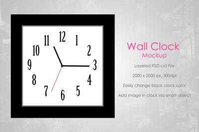 Wall Clock Mockup v2