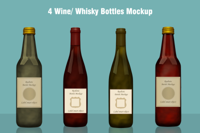 Whisky / Wine Bottle Mockup