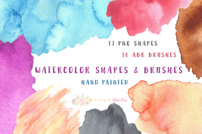 Watercolor Shapes & abr Brushes