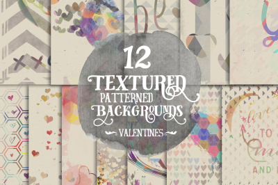 12 Textured Patterned Backgrounds