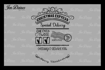 Christmas Express Santa Sack SVG DXF EPS PNG