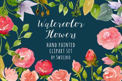 Digital Watercolor Roses