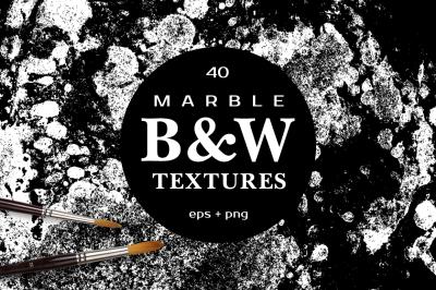 MARBLE B&W Vector Textures