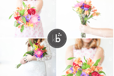 Flowers Girl - 4 Stock Photos Bundle