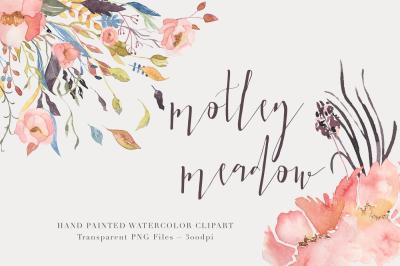 Watercolor Floralclipart - Motley