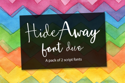 Hide Away font pair + extras 50% OFF