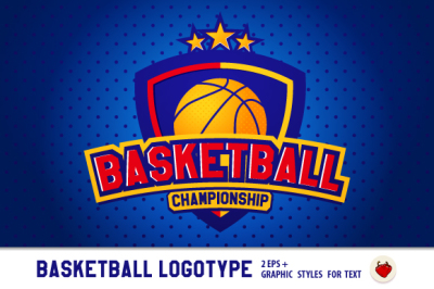 Basketball Badge and graphics style