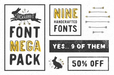 Jackrabbit Font Mega Pack