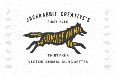 Handmade Animal Silhouette Pack - Vector
