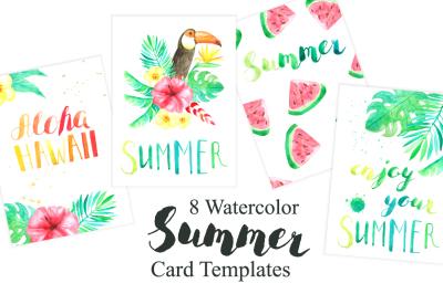 Tropical Card Templates Set