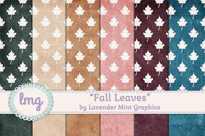 Fall Autumn Leaves Digital Scrapbook Paper