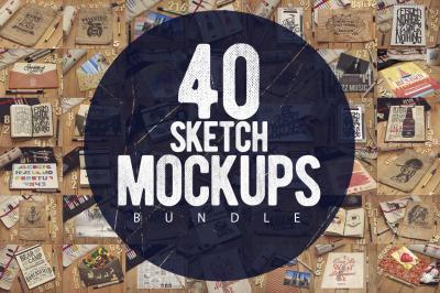 40 Sketch Mockups Bundle