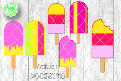Popsicles Clipart Cutting Files - SVG/EPS/PNG/DXF