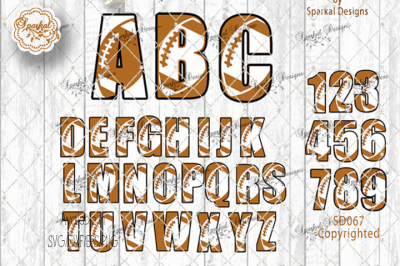 Football Alphabet Cutting Files-SVG/EPS/PNG/DXF