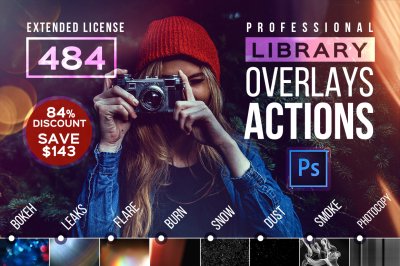 Photoshop ACTIONS Library Overlays