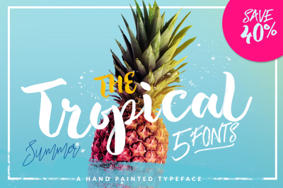 The Tropical - 5 Fonts