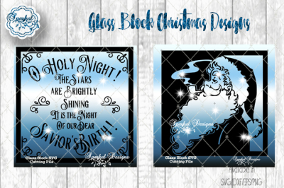 Glass Block Christmas Designs - SVG/DXF/EPS/PNG
