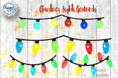 String Lights for Christmas - SVG/DXV/EPS/PNG