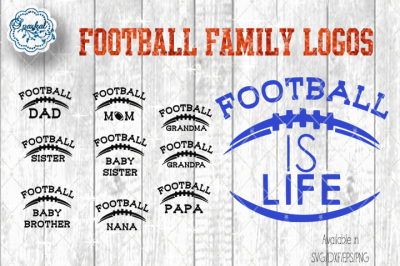 Football Family Logos - SVG/EPS/DXF/PNG