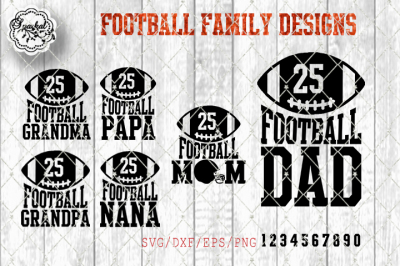 Football Family Designs - SVG/EPS/PNG/DXF