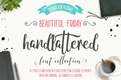 Beautiful Friday (13 Fonts + Extras)