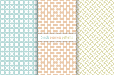 Classical simple seamless patterns