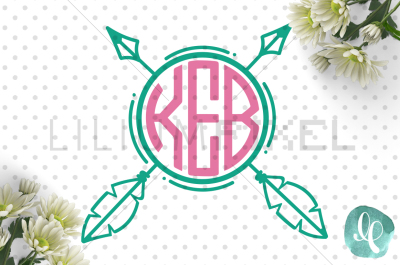 Monogram Arrow / SVG PNG DXF JPEG Cutting File