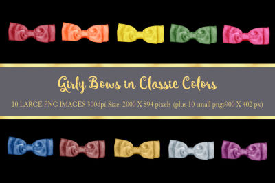 Girly Bows Classic Color Collection