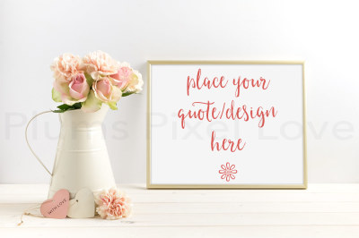 Pretty styled stock floral mock up photograph