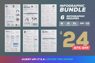 Best Infographic Resumes - Bundle