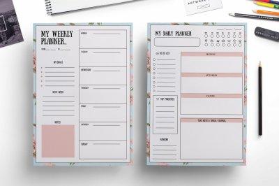 Elegant weekly planner , daily planner