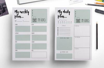 Modern weekly planner , daily planner