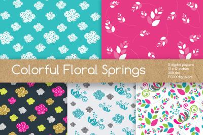 Digital Paper Pink Floral Scrapbook
