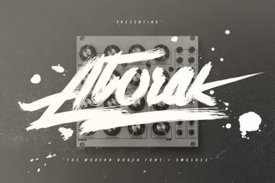 Atorak Typeface + Swashes