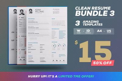 Clean Resume/CV - Bundle Edition Vol. 3
